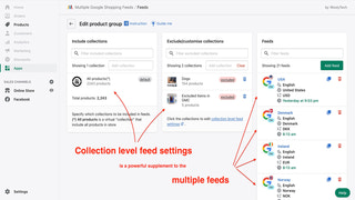 Each collections can have its own feed settings