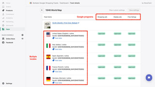 Get your products on all Google programs, in multiple languages