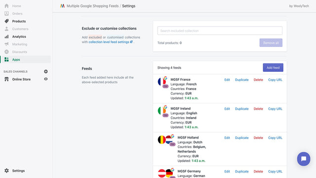Support translated feeds for multilingual/multi-currency shops