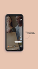 Products showing in video timeline.