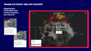 translate front-end app content Product Reviews, Shipping Bar