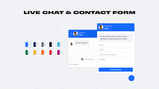 Live Chat and Contact Form Widgets