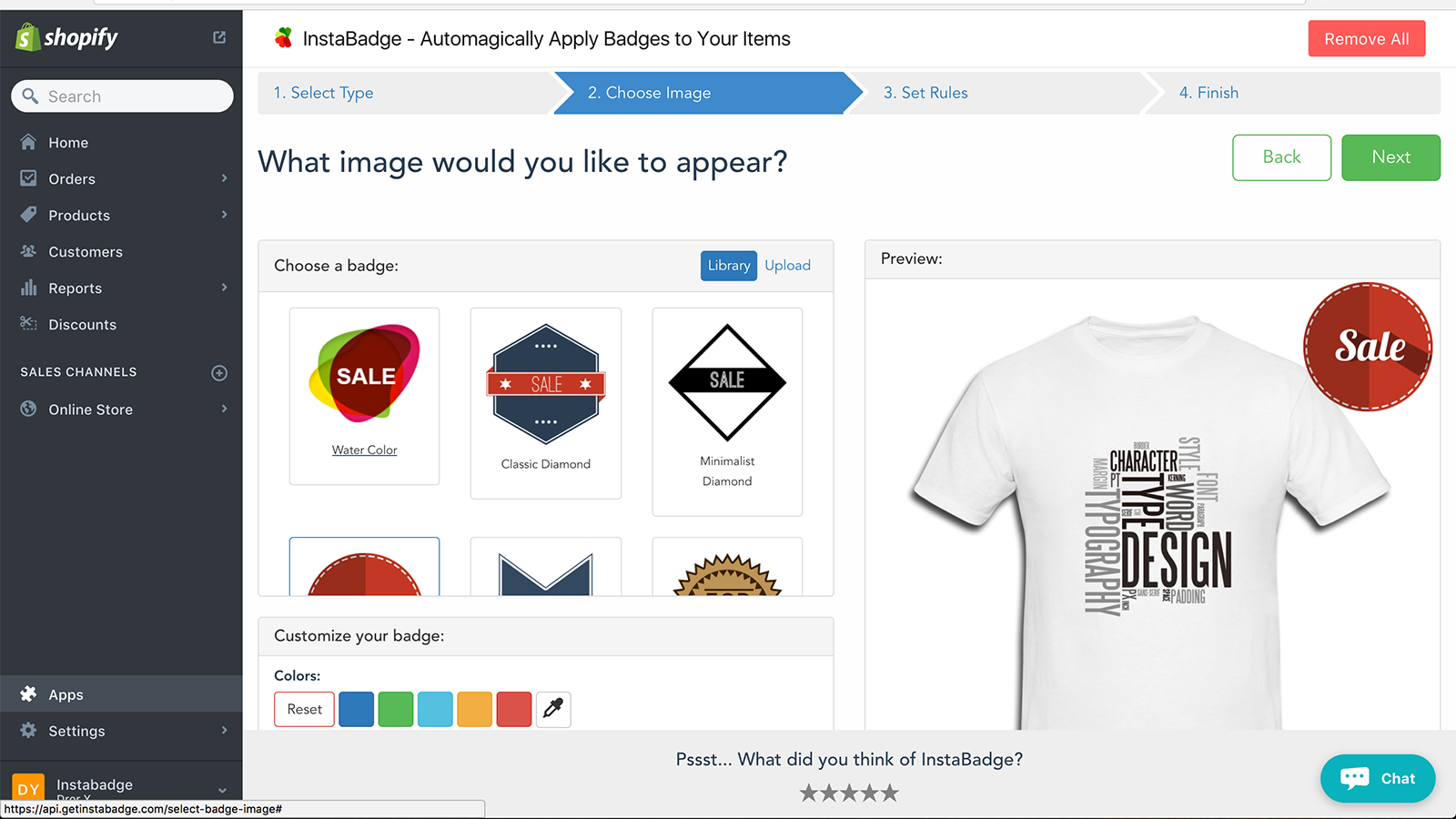 Dashboard - select your image