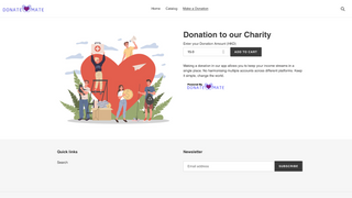 Input your desired donation amount