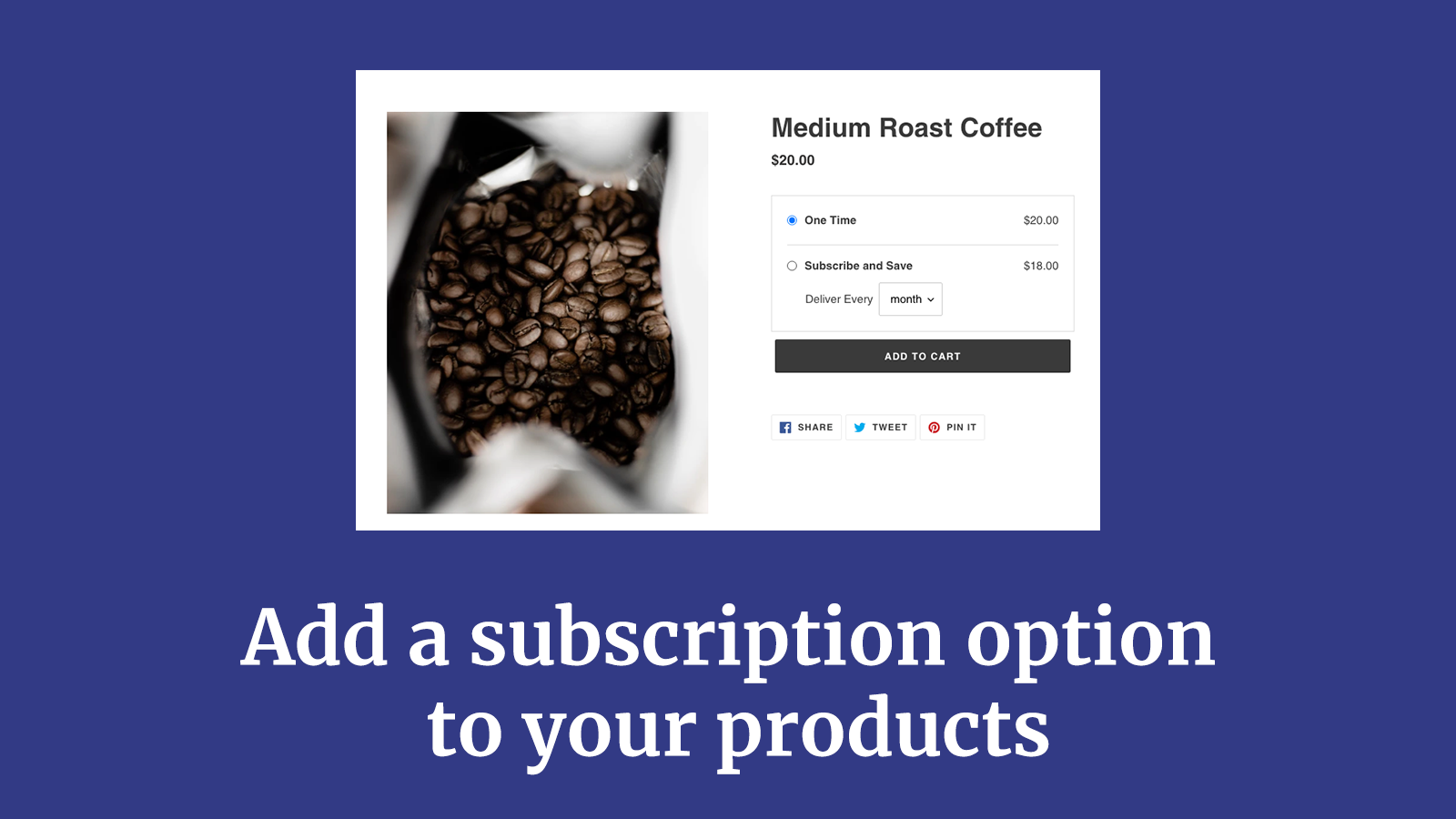 Add subscription widgets to your product pages easily.