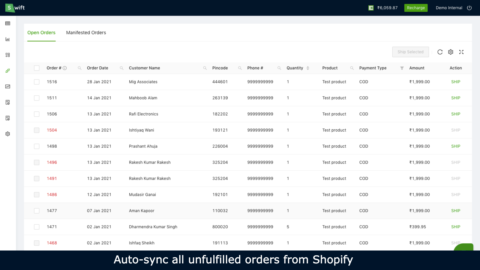 Auto-sync all orders from Shopify