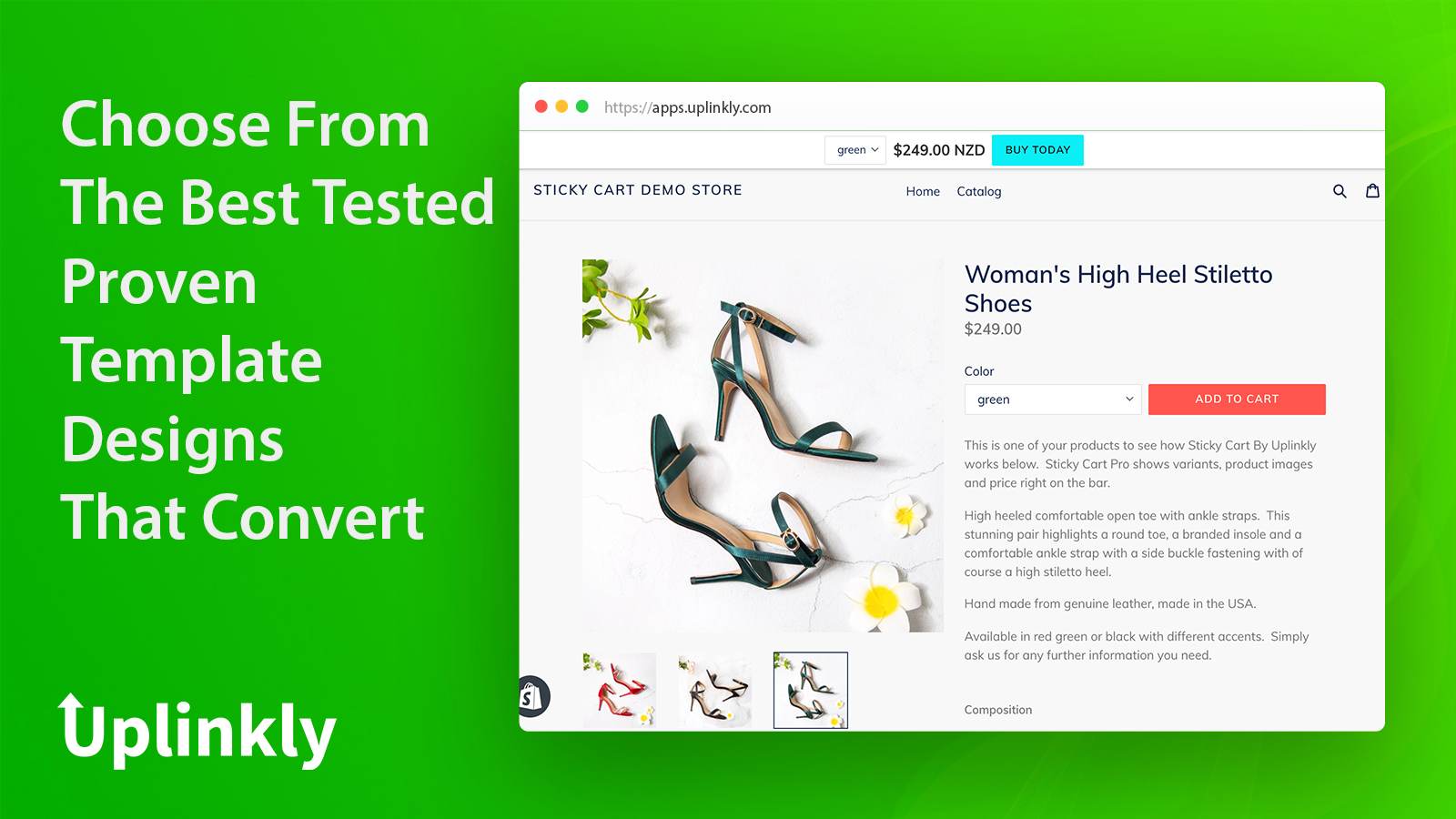 Sticky Cart Pro choose from template designs