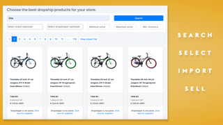 Search, select and filter the dropship products you want to sell