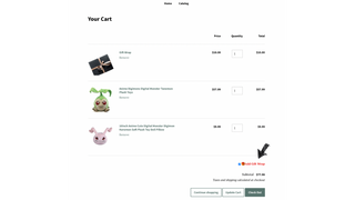 Order page with gift wrap
