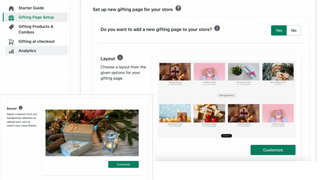 Add new customizable gifting page to your store