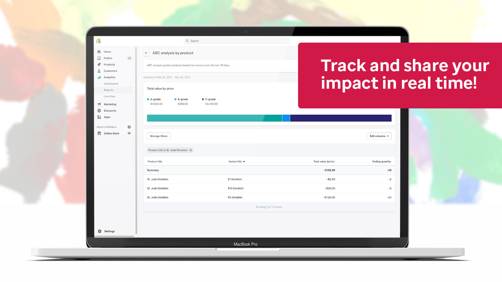 Track and share your impact in real time!
