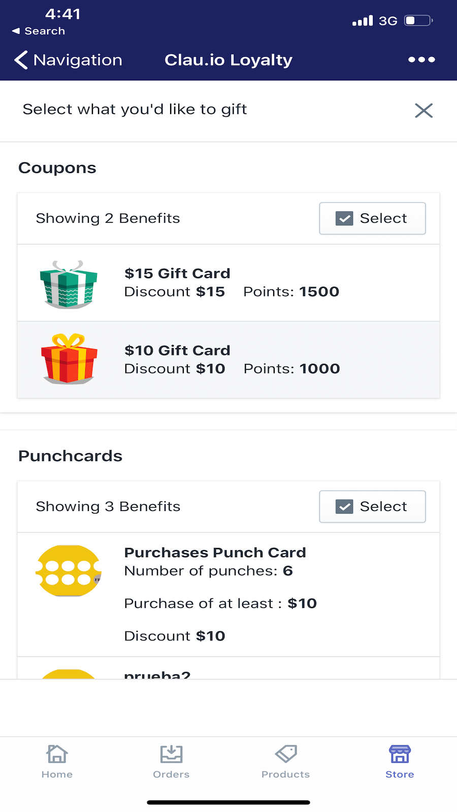 Send gifts or punch cards on the go
