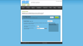 FreshBooks Connector Configuration Panel Page 2