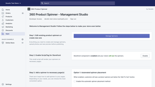 360 Product Spinner, Admin Demo A