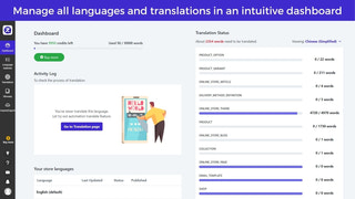 manage languages and track translation progress from dashboard