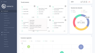 Main Dashboard with product insights and customer segments