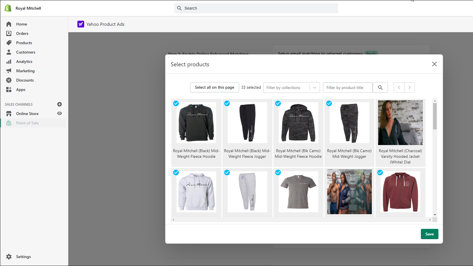 Select products to promote in dynamic ads