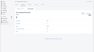 Dashboard to track ads performance