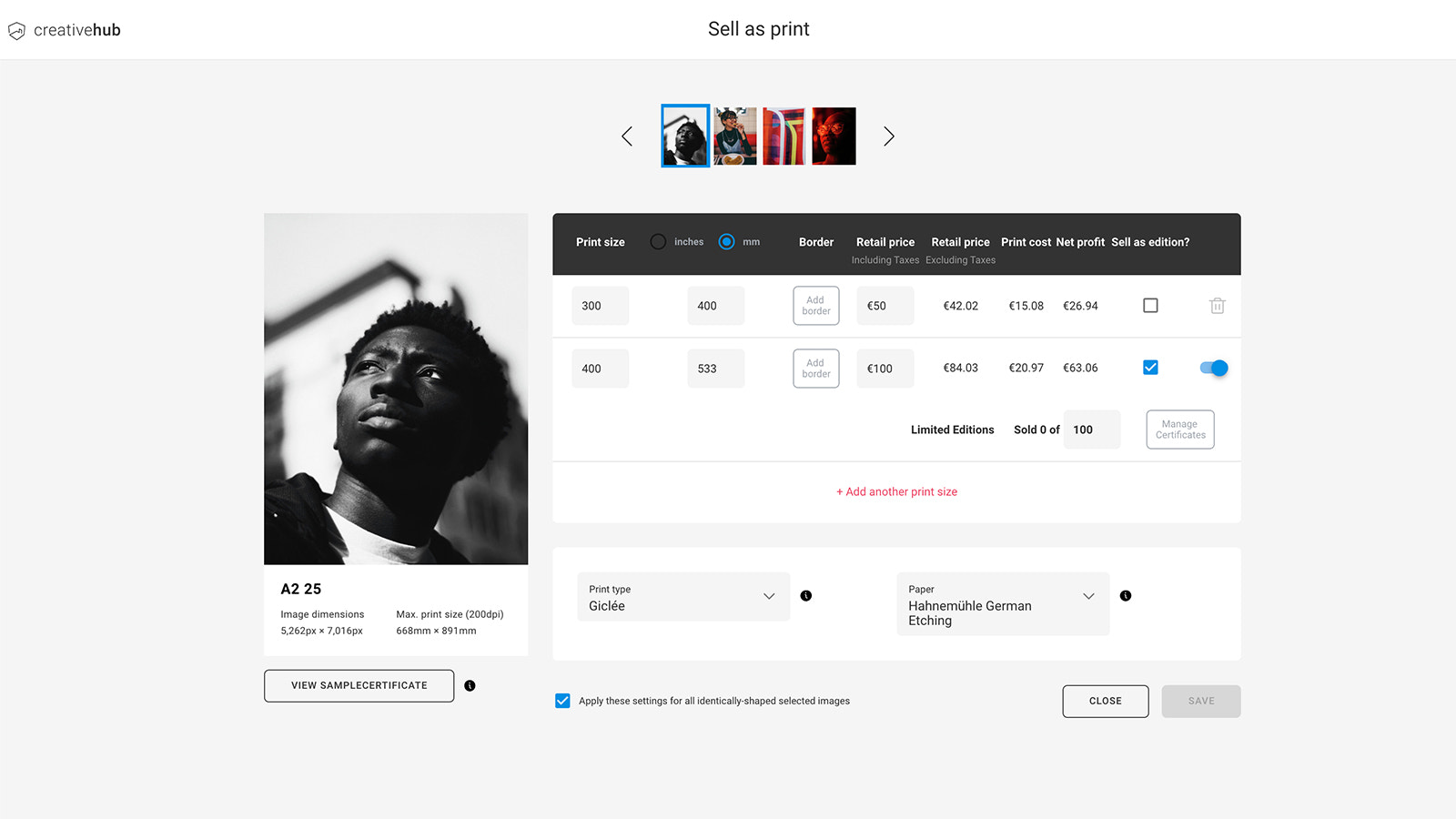 Upload high res files to creativehub