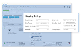 Set specific shipping carrier settings