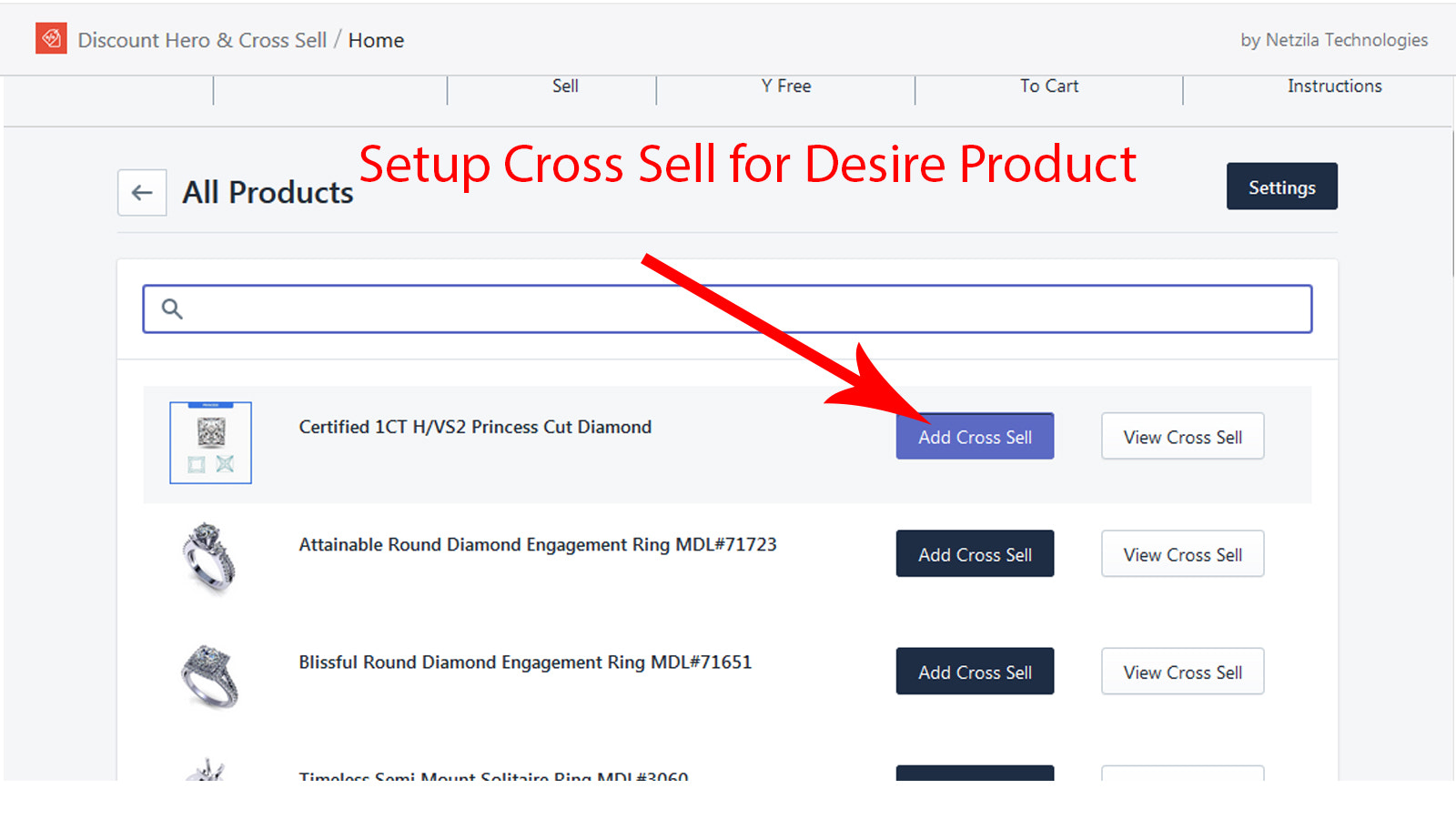 Cross sell products
