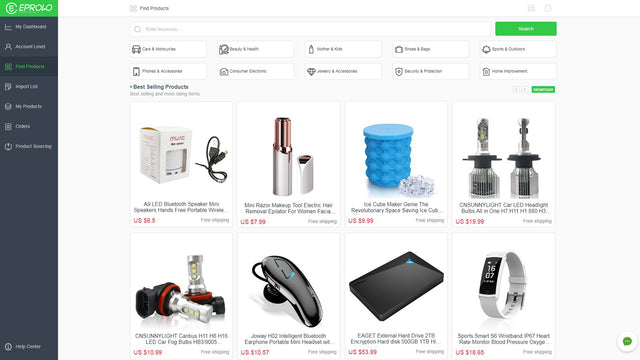 Using keywords or category to find products