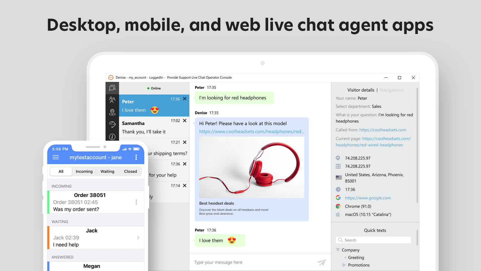 Never miss a chat using powerful live chat agent app