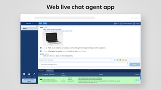 Never miss a chat using a web chat agent app