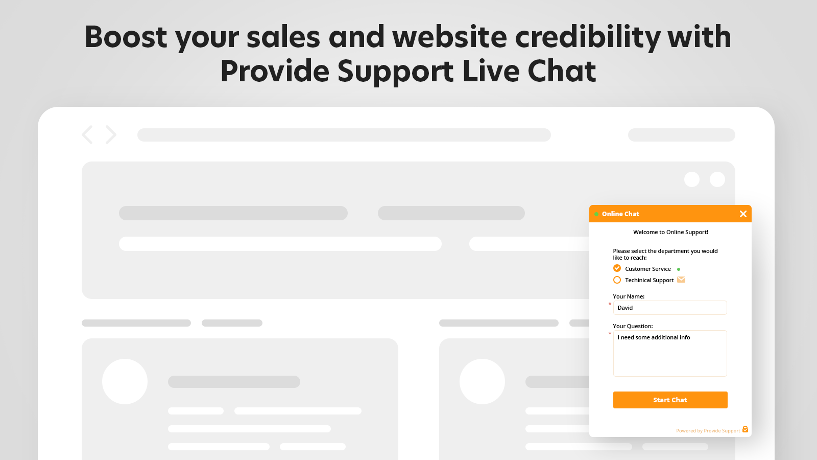 Improve your customer support with Provide Support Live Chat