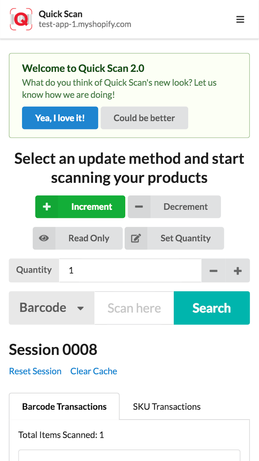 Manage inventory in your finger tip