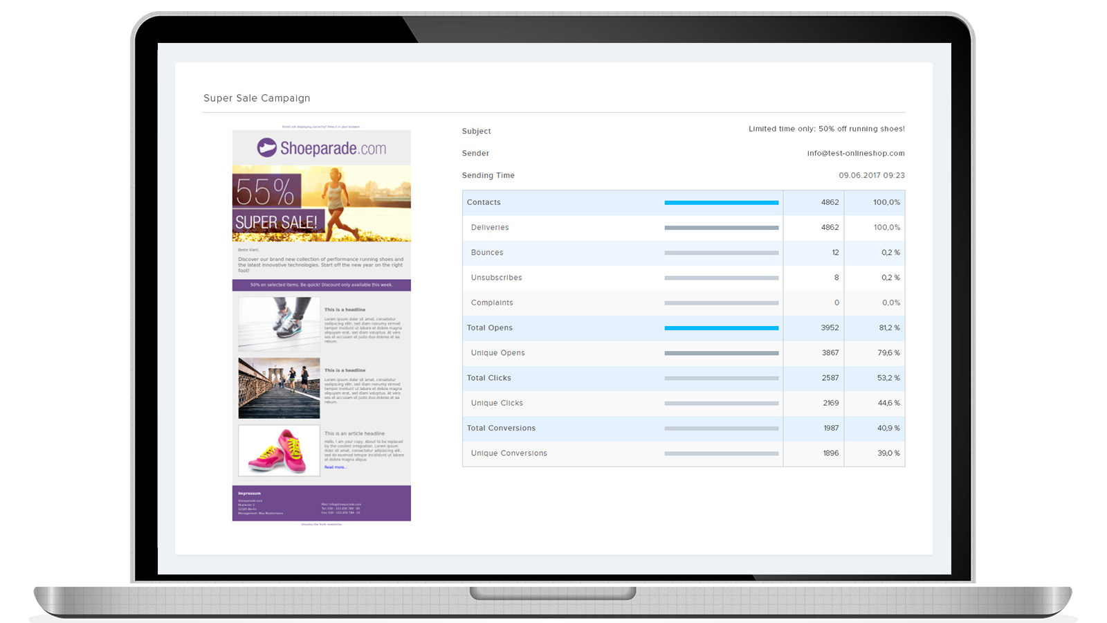 Access real-time reports