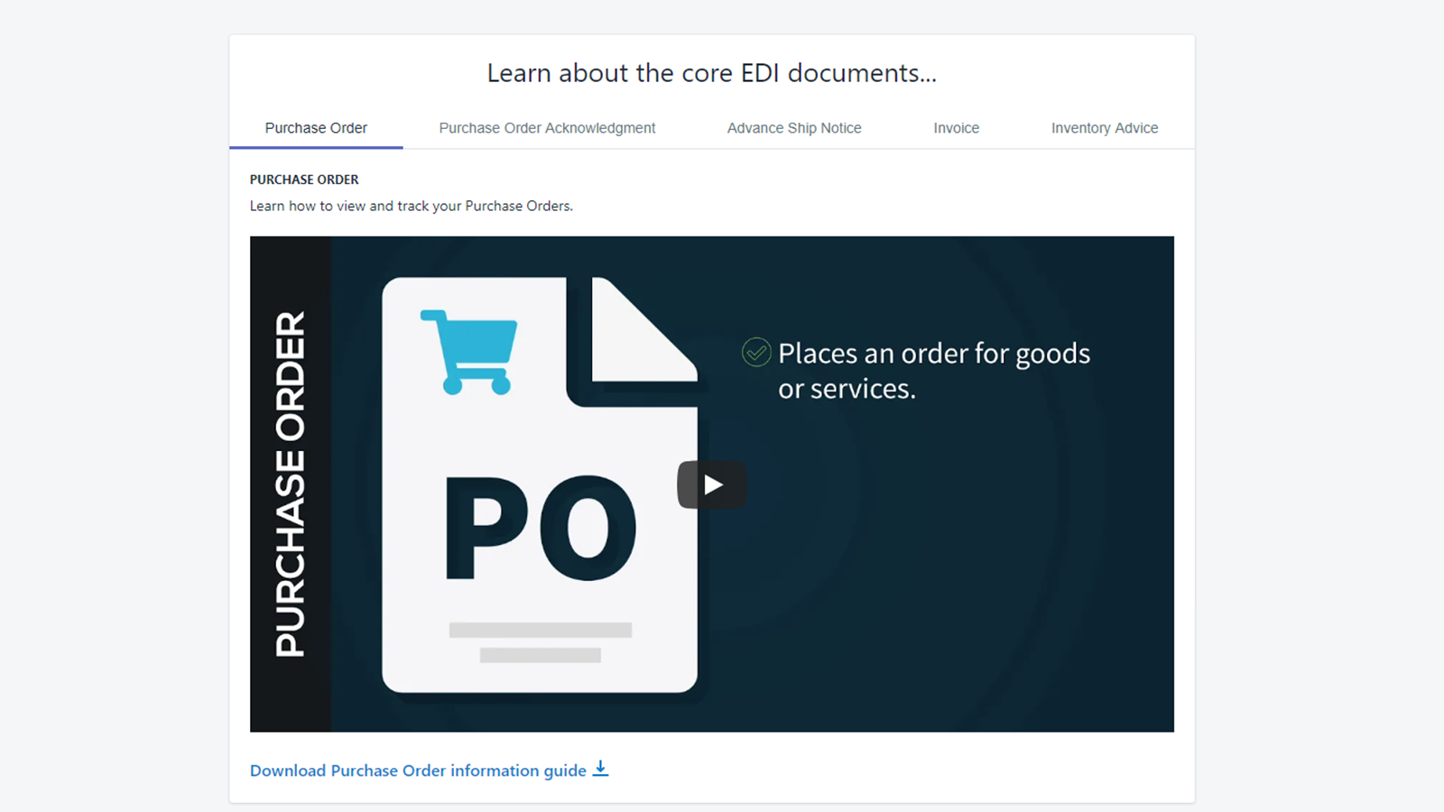 Access to expert EDI training videos and materials!