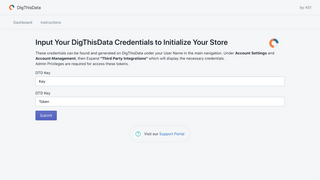 Registering your Store with your DigThisData account