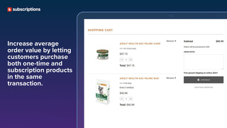 Add one-time and subscription products in the same transaction.