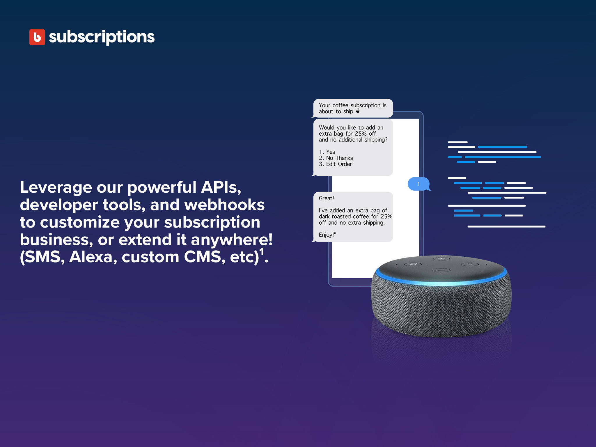 Leverage our powerful APIs, developer tools, and webhooks.