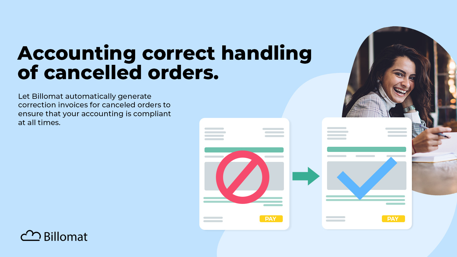 Correct processing of cancelled orders