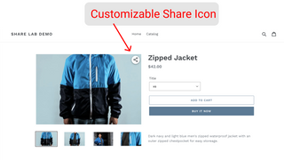 Customize Share Icon