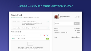Cash on Delivery as a separate payment method