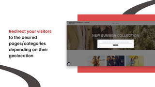 Redirect your visitors to the desired pages/categories depending