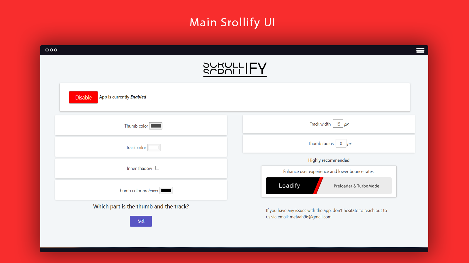Scrollify modify scroll for your shopify store main ui