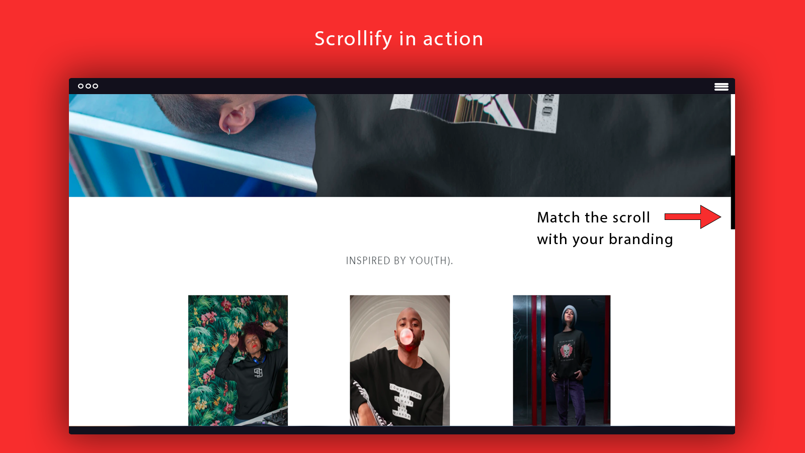 Modify the scroll of your online shopify store branding