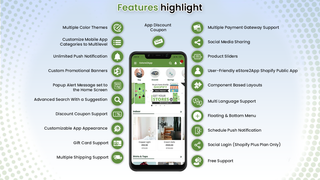 estore2app shopify features highlights