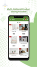 estore2app shopify mobile app product listing screen