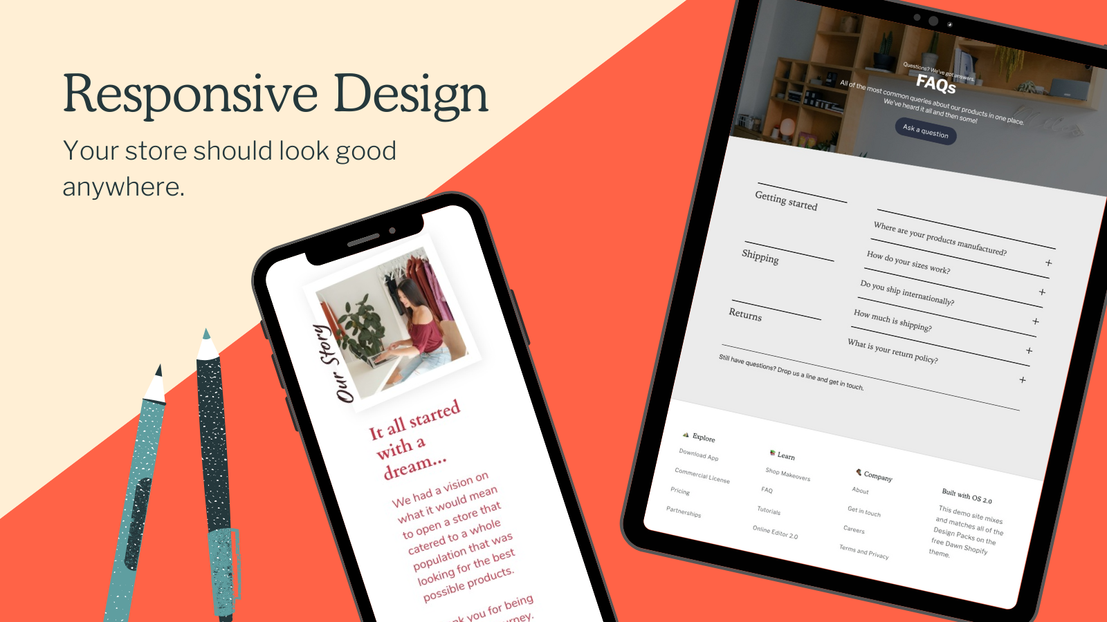 Responsive design looks great on all screensizes.