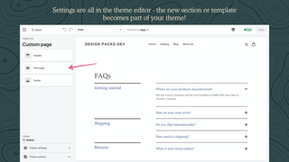 Edit pack in theme editor