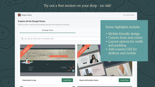 Try out a free section - no risk!