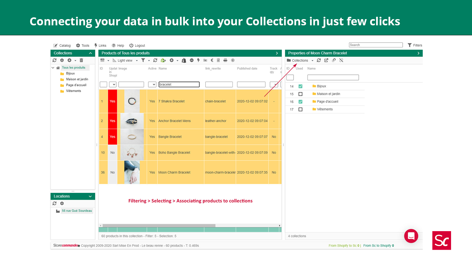 Connecting easily your data in bulk into your Collections