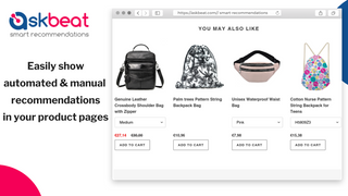 Automated & manual product recommendations - AskBeat