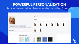 Offer stunning personalization Teeinblue Product Personalizer