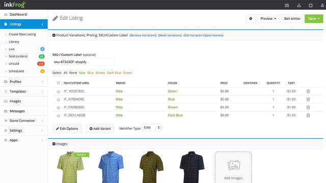Import your Shopify products into eBay